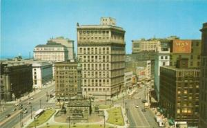 Public Square, looking east, Cleveland, Ohio `1950s unuse...