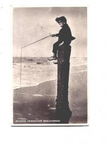 Real Photo, Little Dutch Boy Fishing, Netherlands