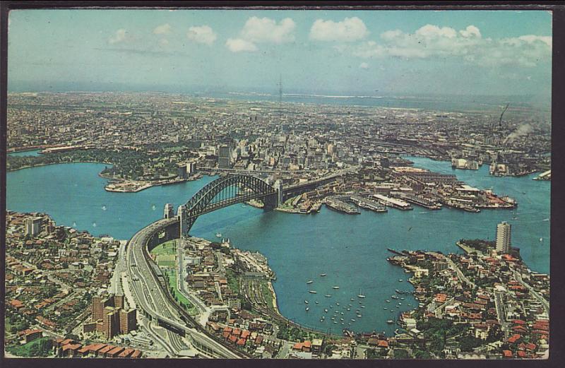Bird's Eye View,Sydney,Australia Postcard BIN