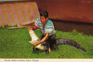 Florida Seminole Indian Wrestling Native Alligator