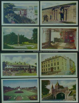 Quebec City lot of 9 PCs scenes Lorenzo Audet 1950s
