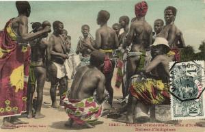 CPA Senegal Ethnic Nude Fortier - 1485. Cote d'Ivoire Danses d'Indigénes (71110)