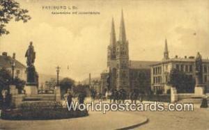 Freiburg I Br Germany, Deutschland Postcard Kalserbrucke mit Johnniskirche  K...