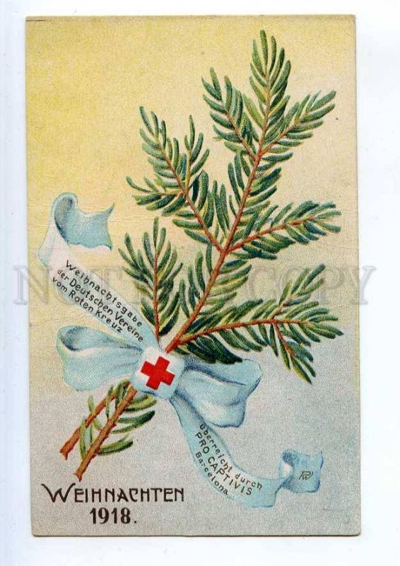 241293 WWI GERMANY RED CROSS PROPAGANDA 1918 year postcard
