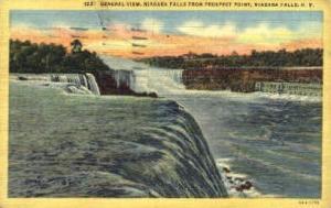 General View of Niagara Falls Niagara Falls NY 1949