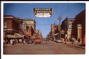 Downtown Rosser Street, Brandon, Manitoba