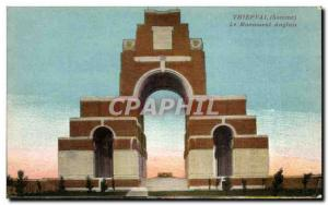 Postcard Old Thiepval Somme The English Army Monument