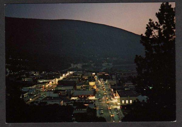 BC Night view NELSON BRITISH COLUMBIA Canada Postcard Carte Postale  PC