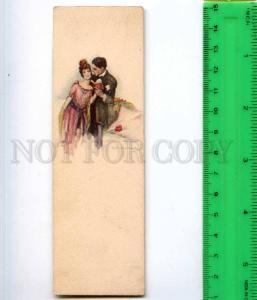 254128 ITALY BOMPARD love pair reading book Vintage miniature