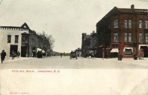 Vintage Postcard Fifth Avenue North. Jamestown ND North Dakota Stutsman County
