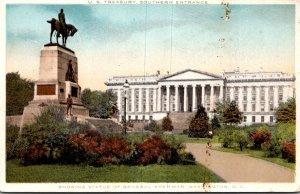 Washington D C United States Treasury Southern Entrance Showing General Sherm...