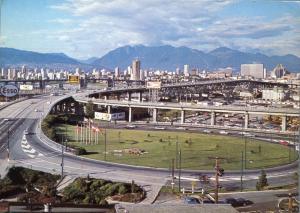 Granville Street Bridge over False Creek Vancouver BC British Columbia pm 1971