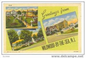 3-Views, Greetings From Wildwood-By-The-Sea, New Jersey, 30-40s