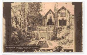 Rear View showing Italian Formal Garden, Tippecanoe County Historical Museum,...