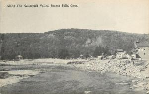 Beacon Falls Connecticut~Beach Along the Naugatuck Valley~Campers 1930s B&W PC