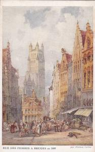 Rue Des Pierres A Bruges En 1899, West Flanders, Belgium, 1910-1920s