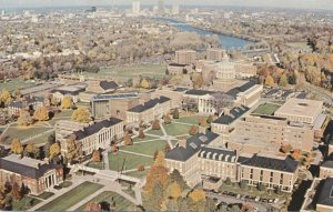 Aerial View of Rush Rhees Library at - University of Rochester NY, New York