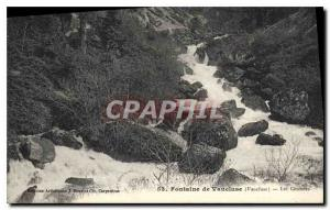 Old Postcard Fontaine de Vaucluse (Vaucluse) Cascades