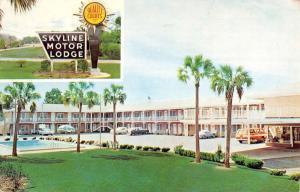 Tallahassee Florida Skyline Motor Lodge Multiview Vintage Postcard K96026