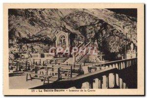 Old Postcard La Sainte Baume Interior Of The Cave