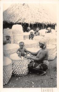 Meiganga Cameroon Africa Native Women with Children Real Photo Postcard J80384