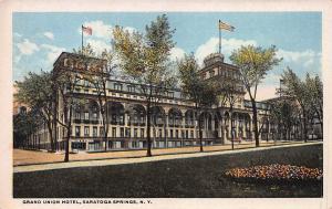 Grand Union Hotel, Saratoga Springs, New York, Early Postcard, Unused
