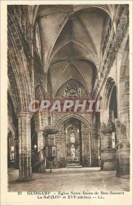 Postcard Old Guingamp Church of Our Lady of Good Help Nef (XIV and XVI Sieles)