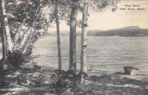 Maine Lake Kezar West Shore Albertype
