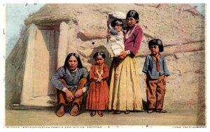 Navaho Indian Family and Hogan Arizona