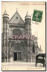 Old Postcard Compiegne L & # 39Eglise Saint Anthony