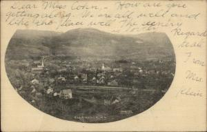 Ellenville NY General View c1905 Postcard