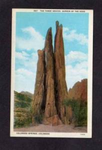 CO Three Graces Gods COLORADO SPRINGS Postcard PC