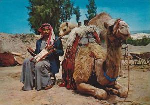 Arab man playing the Rebec , Jordan , PU-1977