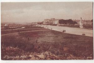 P987 old card view plymouth hoe england birds eye view
