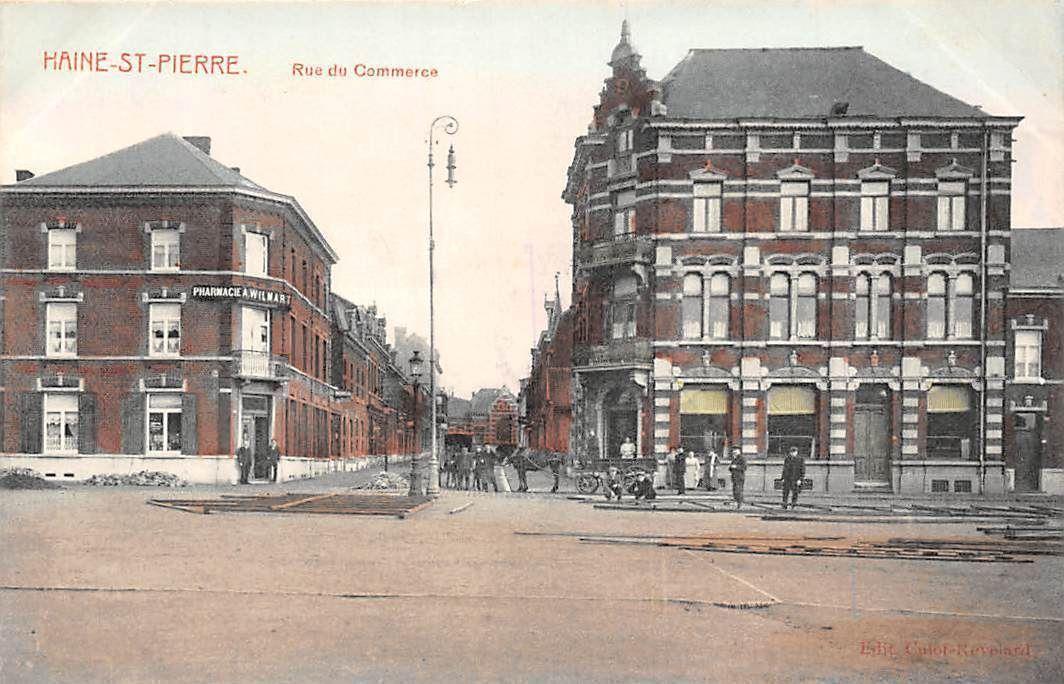 carte rue du commerce Belgium Haine Saint Pierre Rue du Commerce Pharmacie Belgie