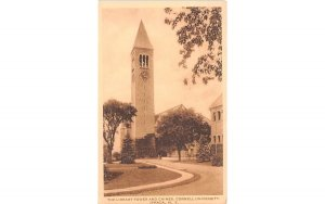 Library Tower & Chimes Ithaca, New York Postcard