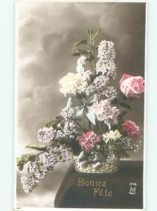 tinted rppc c1910 BEAUTIFUL FLOWERS AC9145