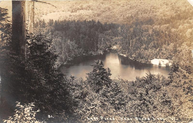 Bread Loaf-Addison County Vermont~Pleiad Lake & Forest Bird's Eye View~1936 RPPC