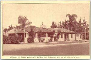 Lake Wales, Florida Postcard BARNEY'S Restaurant Street View Roadside c1940s