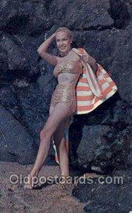 Girl in cape Bathing Beauty Unused