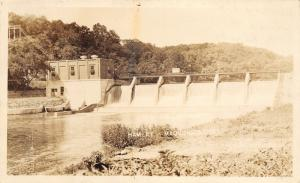Maquoketa Iowa~Closeup of Lakehurst Hydroelectric River Dam~1926 Hamley RPPC