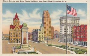 New York Syracuse Clinton Square and StateTower Building From Post Office