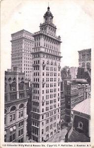 US Gillender Building Wall & Nassau Sts. Cpyrt G.P. Hall & Son, J. Koehler N.Y.