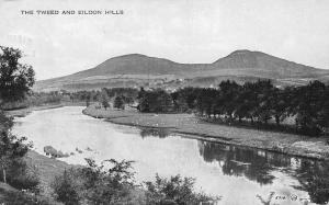 Scottish Borders, Melrose, The Tweed and Eildon Hills, River
