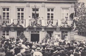 Luxembourg Empfang I K H der Grossherzogin Marie Adelheld am Stadthause zu Gr...