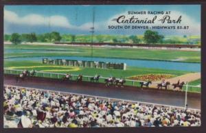 Summer Horse Racing Centennial Park Littleton Postcard 4073