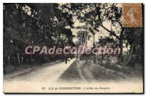 Postcard Old Noirmoutier Allee of Sighs