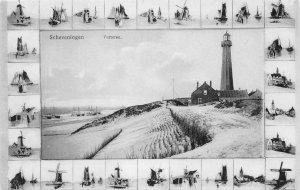 Scheveningen Vuurtoren The Hague, Netherlands Lighthouse c1910s Vintage Postcard