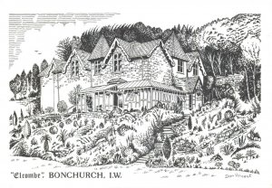 Art Postcard Elcombe Guest House Bonchurch Isle of Wight by Don Vincent AS1