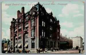 Cincinnati OH~Grand Central Depot~3rd~Newsstand~Only Footer Wall Remains ~1908